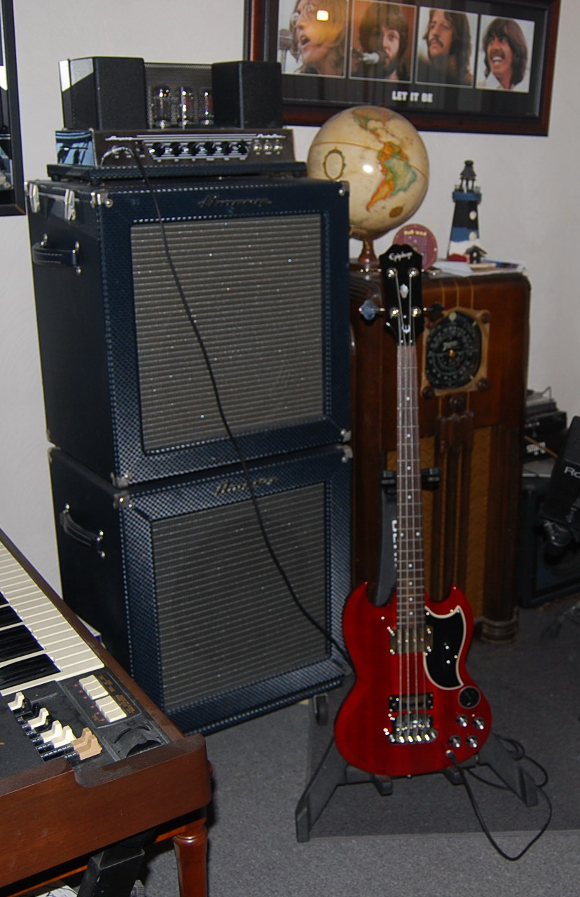 Epi Vs Gibson Selector Switch Mylespaulcom Epiphone Custom Shop Eb3 Bass W Ampeg B15r Stack